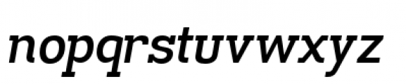 Madawaska Semi Bold Italic Font LOWERCASE