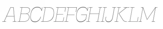 Madawaska Ultra Light Italic Font UPPERCASE