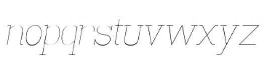 Madawaska Ultra Light Italic Font LOWERCASE