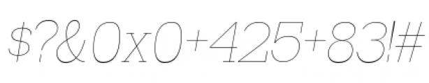 Madawaska Ultra Light Short Caps Italic Font OTHER CHARS