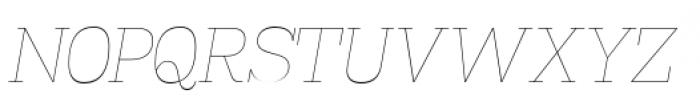 Madawaska Ultra Light Short Caps Italic Font UPPERCASE