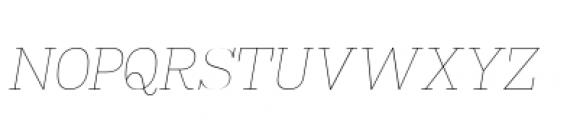 Madawaska Ultra Light Short Caps Italic Font LOWERCASE