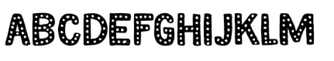 Magical Brush Dots Font LOWERCASE