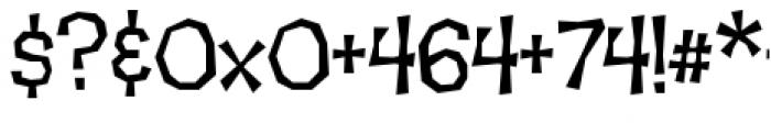 Makeshift Regular Font OTHER CHARS