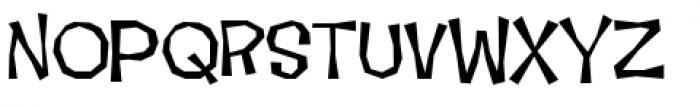Makeshift Regular Font UPPERCASE