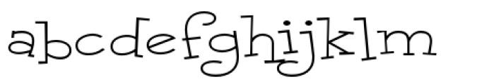 Malihini Cuban BTN Expanded Light Font LOWERCASE