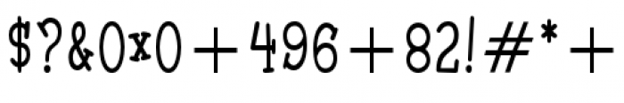 Malihini Tahitian BTN Condensed Font OTHER CHARS