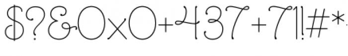 Mandevilla Regular Font OTHER CHARS
