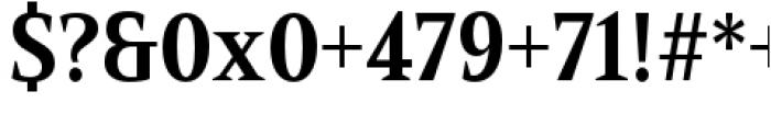 Mandrel Condensed Bold Font OTHER CHARS