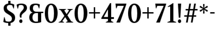 Mandrel Condensed Demi Font OTHER CHARS