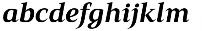 Mandrel Extended ExBold Italic Font LOWERCASE