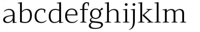 Mandrel Extended Light Font LOWERCASE