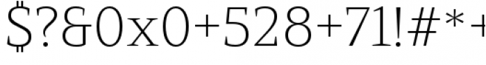 Mandrel Extended Thin Font OTHER CHARS