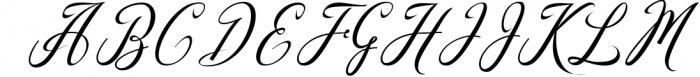 Madania Beautiful Script Font UPPERCASE