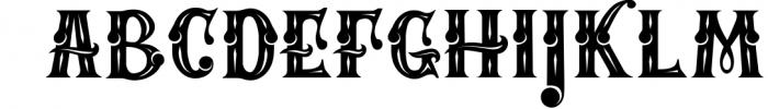 Mafia Font and Watercolor Font LOWERCASE