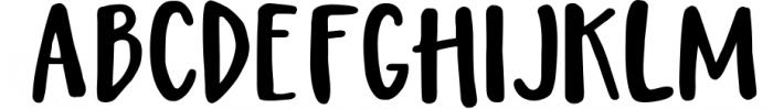 Magic Winter script font duo & logos Font UPPERCASE