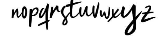 Magistoe script Font LOWERCASE