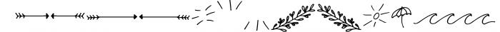 Malibu | Handwritten Font + Extras Font LOWERCASE