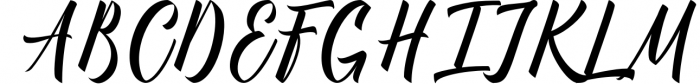 Manhattan Brush Script Font Swash 1 Font UPPERCASE
