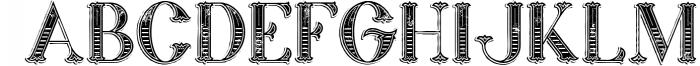 Marin - Victorian Font 5 Font UPPERCASE