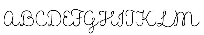 MADELikesScript Font UPPERCASE