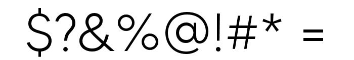 MADETOMMY-Light Font OTHER CHARS