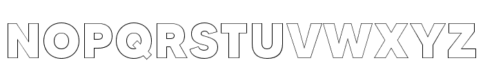 MADETOMMYOutline-ExtraBold Font UPPERCASE