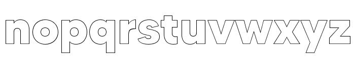 MADETOMMYOutline-ExtraBold Font LOWERCASE