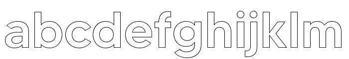 MADETOMMYOutline-Medium Font LOWERCASE