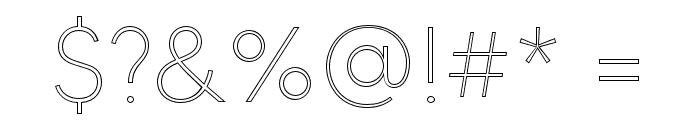 MADETOMMYOutline-Thin Font OTHER CHARS