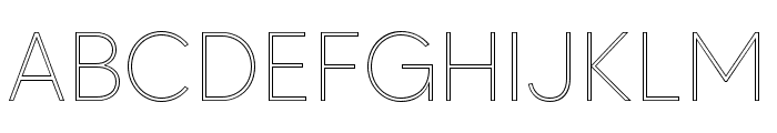 MADETOMMYOutline-Thin Font UPPERCASE