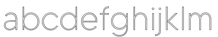 MADETOMMYOutline-Thin Font LOWERCASE