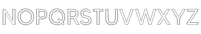 MADETOMMYOutline Font UPPERCASE