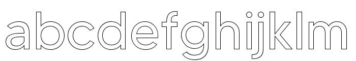 MADETOMMYOutline Font LOWERCASE