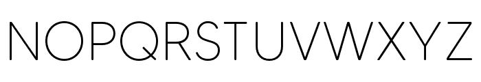 MADETommySoft-Thin Font UPPERCASE