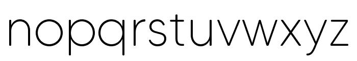 MADETommySoft-Thin Font LOWERCASE