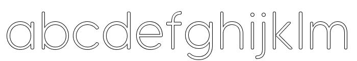 MADETommySoftOutline-Light Font LOWERCASE