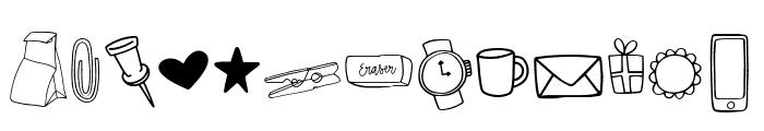 MAGGIE MAE Doodles Regular Font LOWERCASE