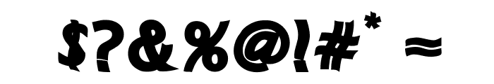 MANOLETE Font OTHER CHARS