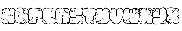 MAWNS rock Font UPPERCASE