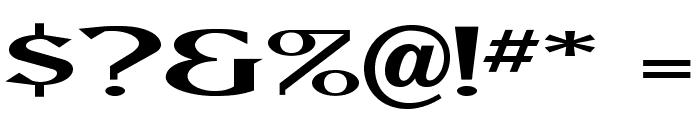 MAXBaerOpti-Wide Font OTHER CHARS