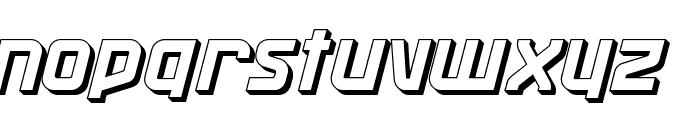 Maassslicer3D Font LOWERCASE