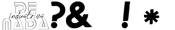 MachineScript Font OTHER CHARS