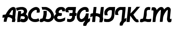MachineScript Font UPPERCASE