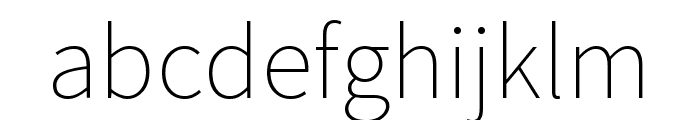 Mada ExtraLight Font LOWERCASE