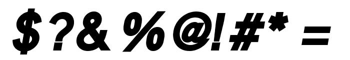 MadeynSans Bold Italic Font OTHER CHARS