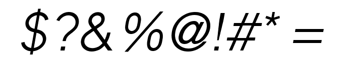 MadeynSans Light Italic Font OTHER CHARS