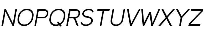 MadeynSans Light Italic Font UPPERCASE