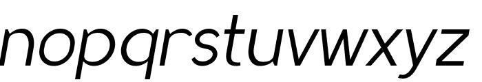 MadeynSans Light Italic Font LOWERCASE