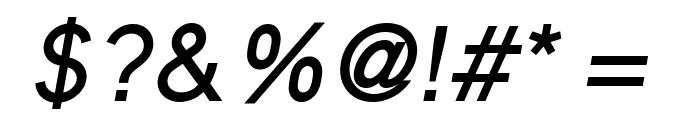 MadeynSans Regular Italic Font OTHER CHARS
